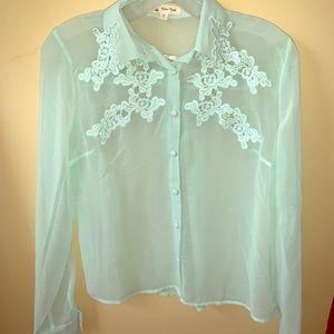 Tops - Sheer Blue Blouse